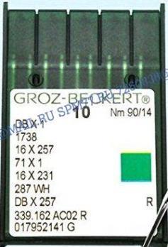 1738 R / DB X1 №90 / 14  Игла  Groz-Beckert