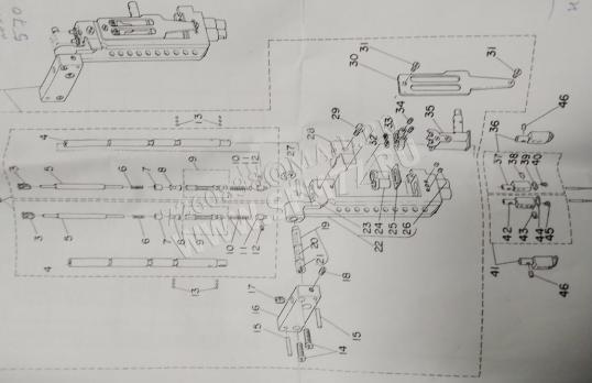251-42654  Рамка игловодителя NEEDLE BAR ASM. 164-30951 JUKI APW-239, 236, 241, 245, LU-1162, 1565,1665  102-04170 оригинал (Япония)