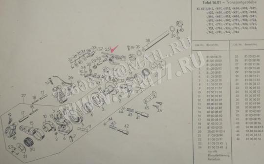 81000345 + 81000348  8515 ALTIN TEXTIMA комплект вилок двигателей ткани