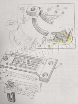 "35820 BQ-8 Лапка UNION SPECIAL 35800 PRESSER FOOT  8 gauge 1/4"" Original (USA)"
