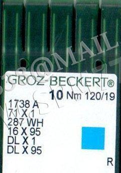 1738A  Игла Groz-Beckert DBx95,DLx1, 287WH № 150/22,5