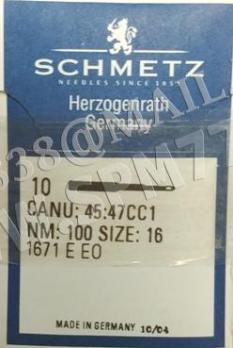 1671 E EO Иглы Schmetz  № 100/16