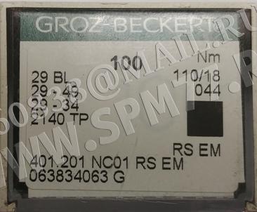 29 BL Иглы № 110/18 GROZ-BECKERT LW X 6T  RS EM / 29-49 / 29-34 / 2140TP