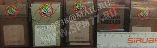 64 Иглы швейные № 100/16 ORGAN WG x 64, Ebx64, WY502, 63, W&G 502, 503, SY6050, SOABAR
