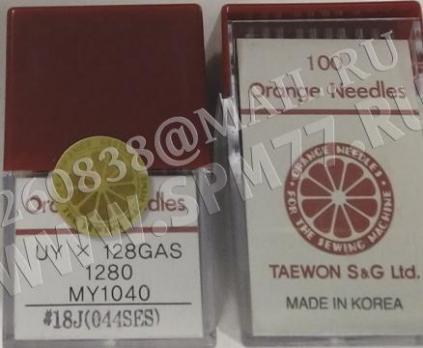 UY 128 GAS #18J / 110 SES Иглы швейные TVX3 ORANGE ( KOREA) пластиковая уп.
