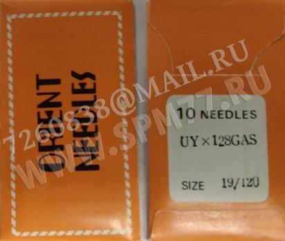 UY X 128GAS № 120 Иглы швейные ORIENT