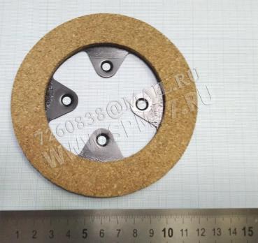 HS-009 накладка ферадо  для двигателя фрикционного д.=118  с ушками, расстояние между центрами отверстий = 35мм