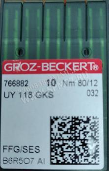 UY 118 GKS FFG/ SES иглы № 80/12 GROZ-BECKERT