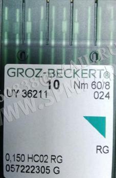 UY 36211 RG Иглы № 60/8 GROZ-BECKERT для Siruba D007, YAMATO FD62