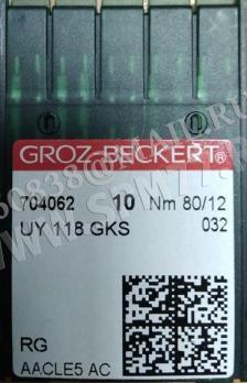 UY 118 GKS RG иглы № 80/12 GROZ-BECKERT  CANU 24:10