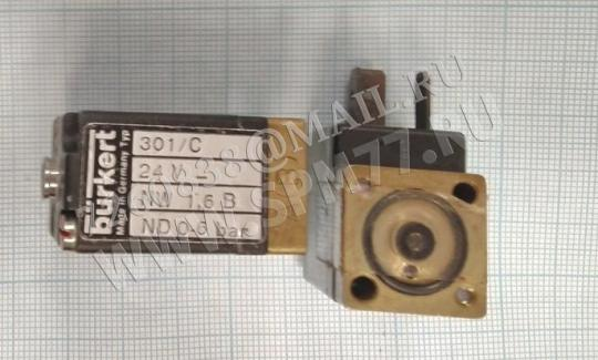 0797 000319 solenoid valve 301-C-01,6-B электромагнитный клапан 301/C 24V DN 1,2B PN 0-10 Bar BURKERT( made in Germany) для  DURKOPP 211, 212,171, 173, 243, 244,  271, 272 и т.п. Magnetventil / Solenoid valve
